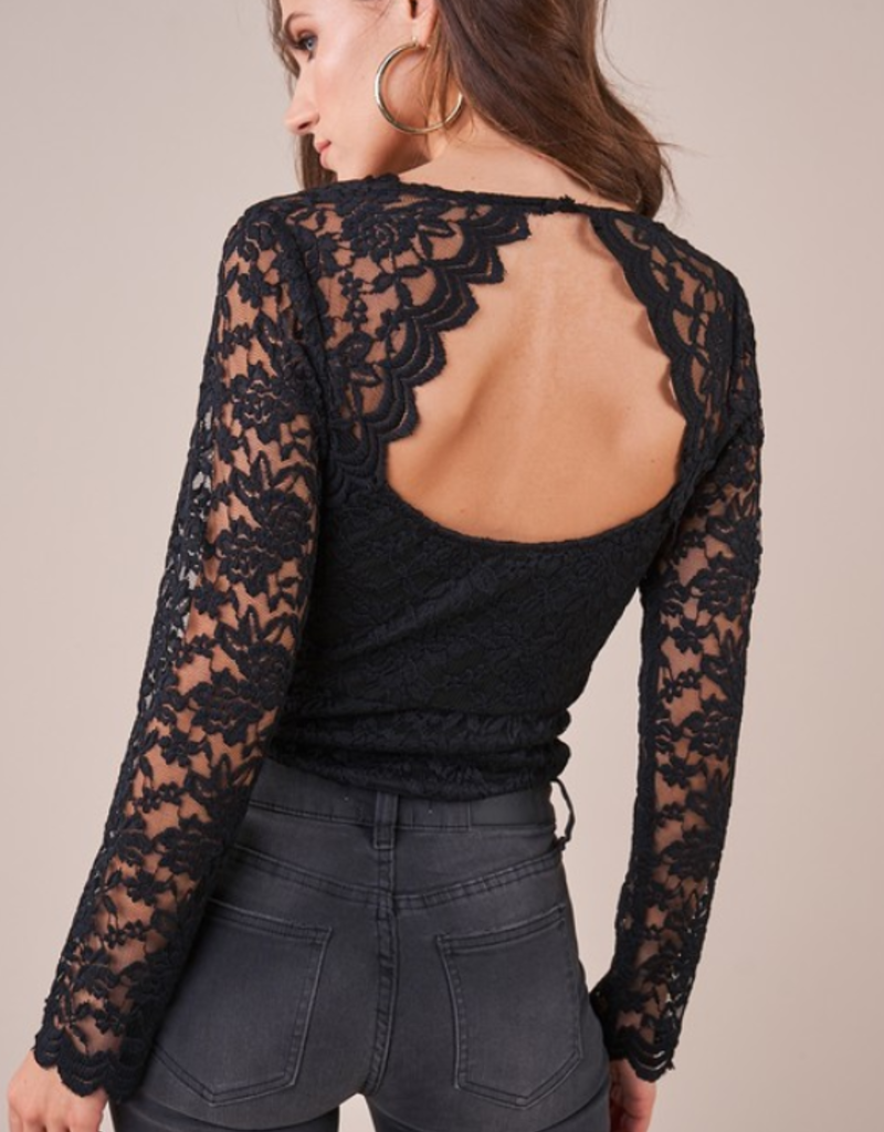 HERE TO STAY LACE BODYSUIT
