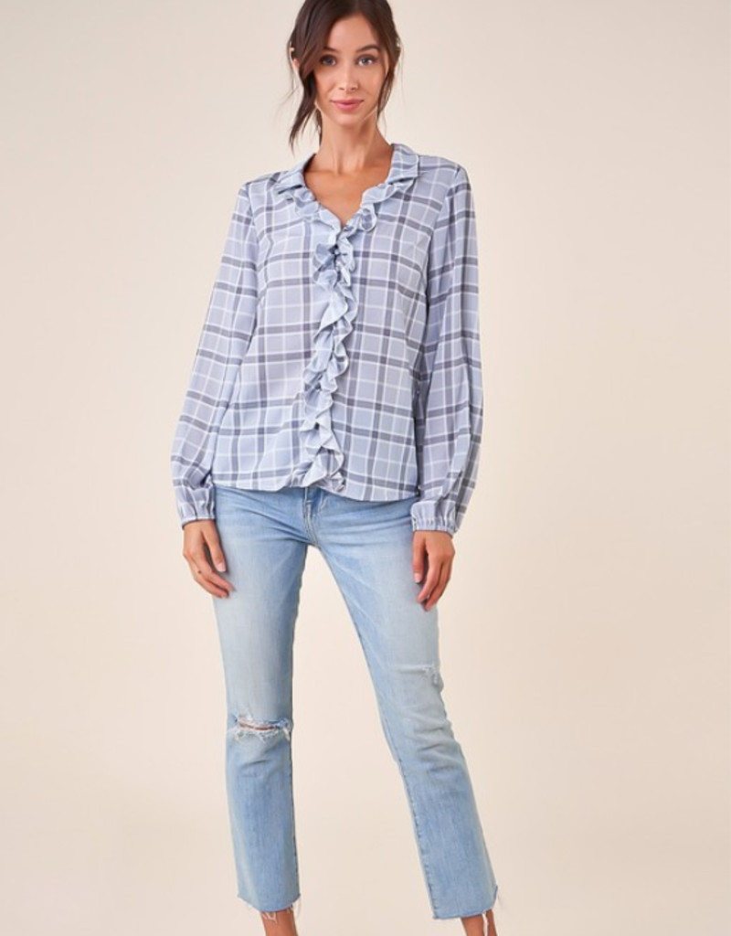 DRESSED UP DOLLY PLAID TOP