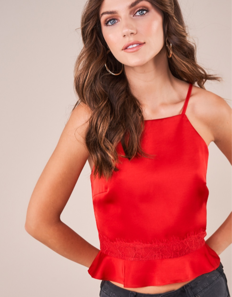 SOULFUL NIGHT PEPLUM TOP