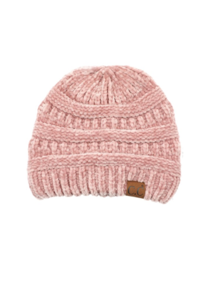 RIBBED CHENILLE BEANIE