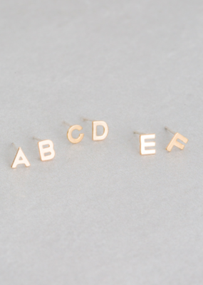 KNOW YOUR ALPHABET EARRINGS-FINAL SALE ITEM