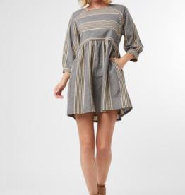 CUTIE STRIPED-TOOTIE DRESS
