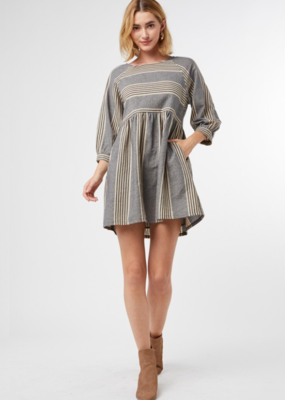 CUTIE STRIPED-TOOTIE DRESS
