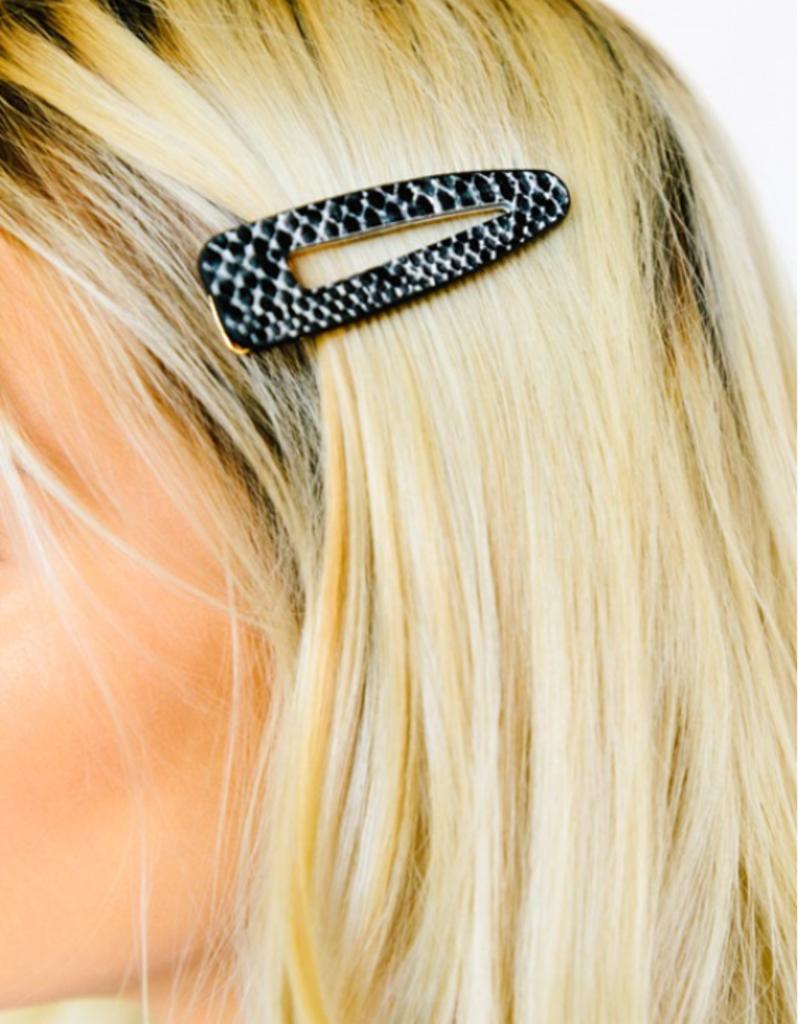 STELLA SNAKESKIN HAIR CLIP