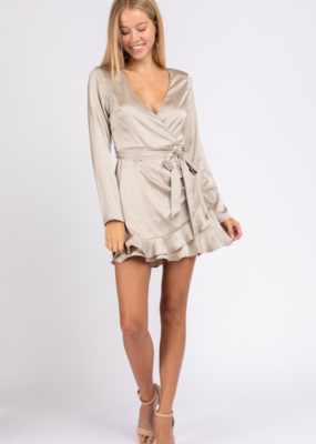 A NIGHT TO REMEMBER WRAP DRESS-FINAL SALE ITEM