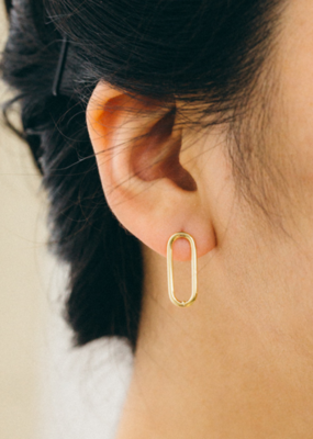 LOOP STUD EARRINGS-FINAL SALE ITEM