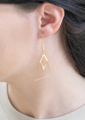 CUT A DASH HOOK EARRINGS-FINAL SALE ITEM