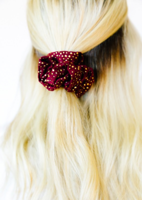 ADELE STUDDED SCRUNCHIE