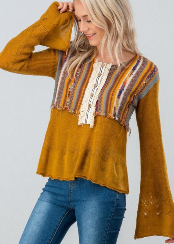 LIVE YOUR DAYDREAM BOHO TOP