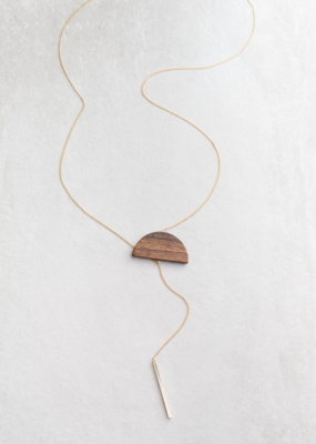RISING SUN WOOD NECKLACE