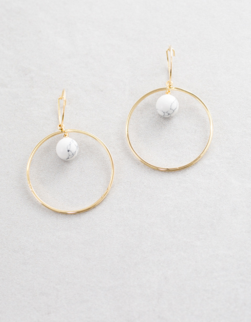 CIRCLE BACK HOOP EARRINGS