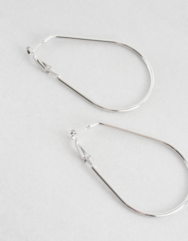 DROPS OF RAIN HOOP EARRINGS