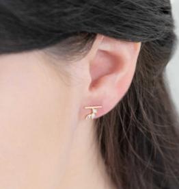 HERA STONE MINI CRAWLER EARRINGS