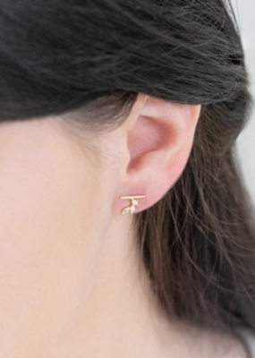 HERA STONE MINI CRAWLER EARRINGS
