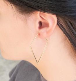 GLITZ AND GLAM DIAMOND HOOP EARRINGS
