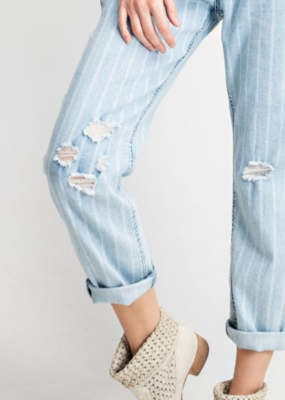 FEELING PLAYFUL STRIPED DENIM