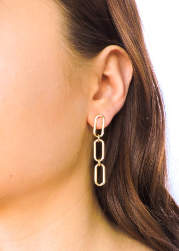 MISSING LINK DROP EARRINGS