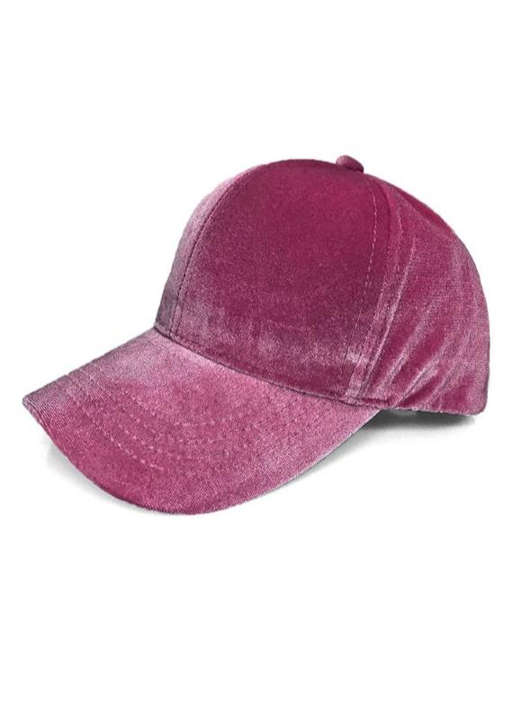 VELVET BASEBALL HAT