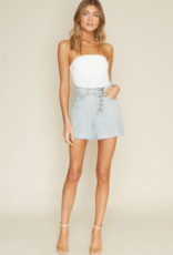PLAYING FAVORITES DENIM MINI SKIRT