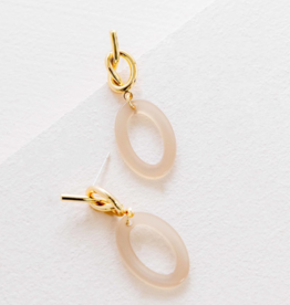 SIMPLY KNOTTED DANGLE EARRINGS