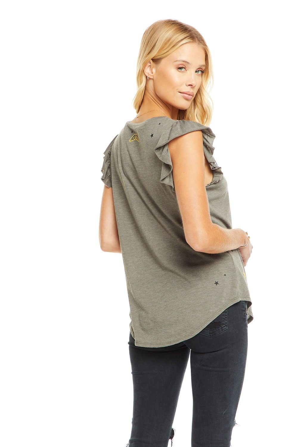 Chaser Patches Flutter Sleeves Tee