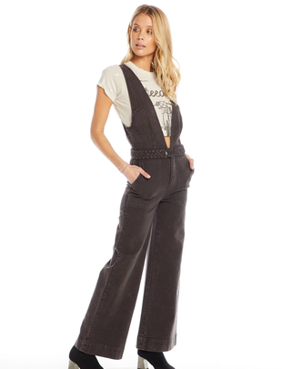 Chaser Vintage Canvas Braided Jumpsuit