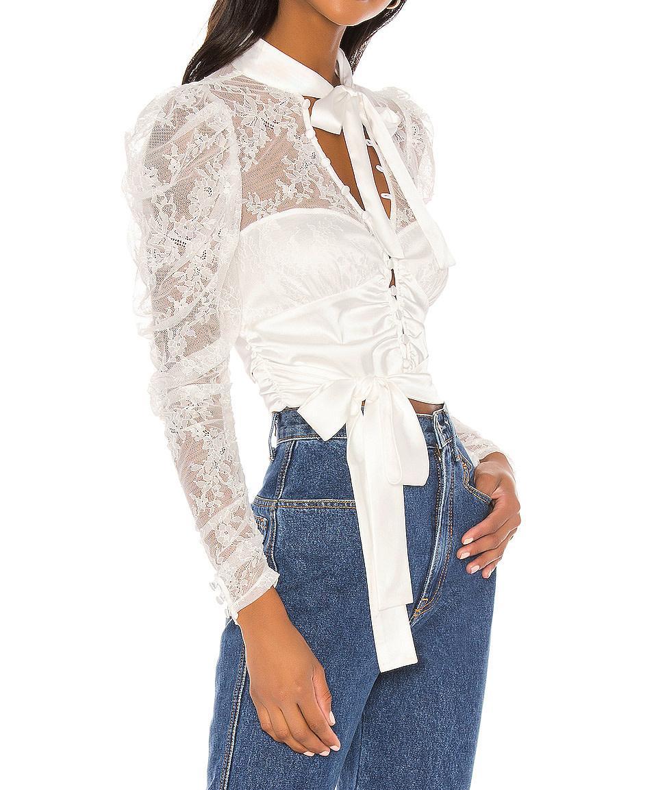For Love & Lemons Farrah Button Up Blouse