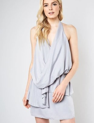 dresses Wrap front Halter Dress