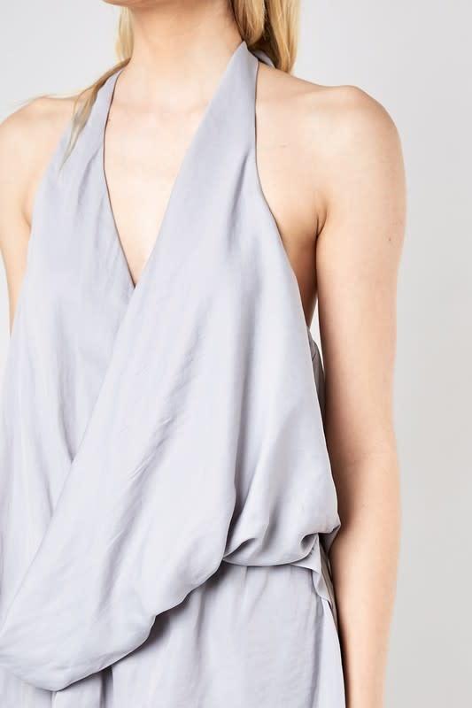 dresses Wrap front Halter Dress