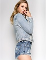 jackets Distressed Light Denim Jacket