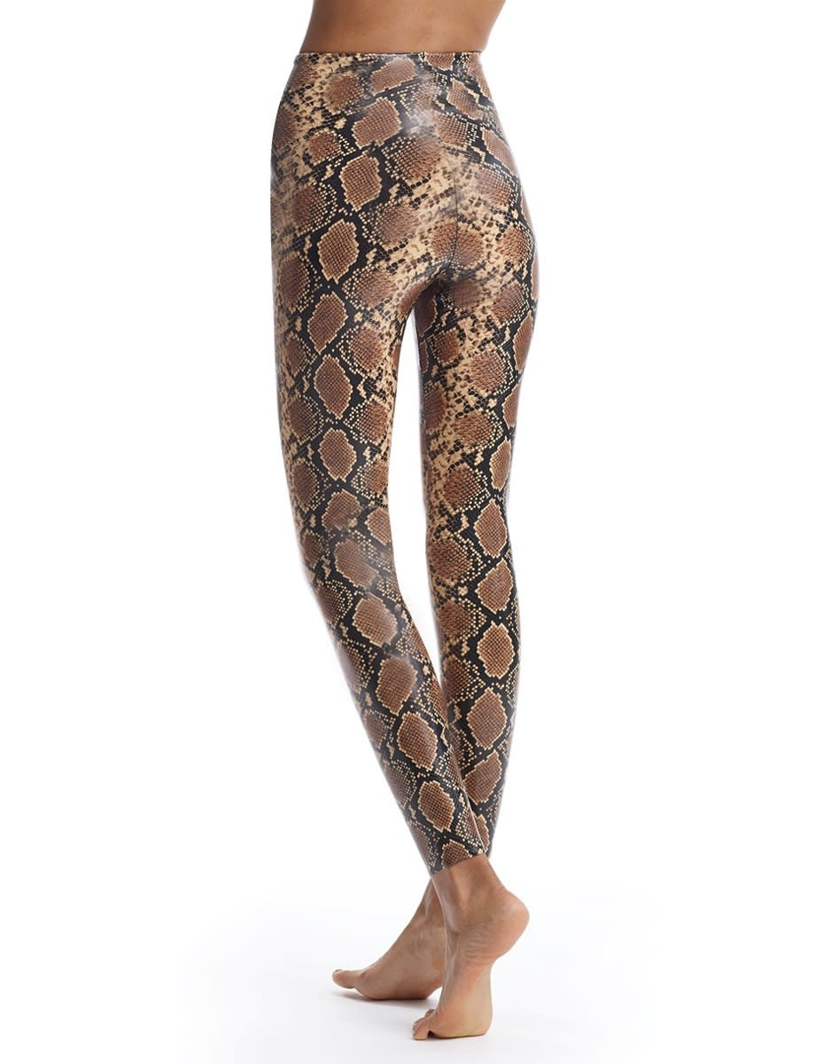 Commando Faux Leather Animal Print Legging