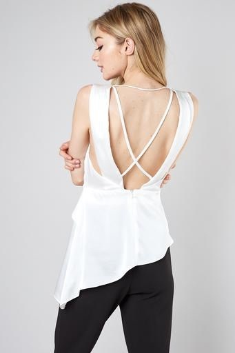 Satin Open Back Top