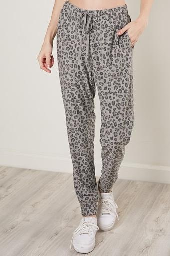 Bottoms Leopard Drawstring Jogger