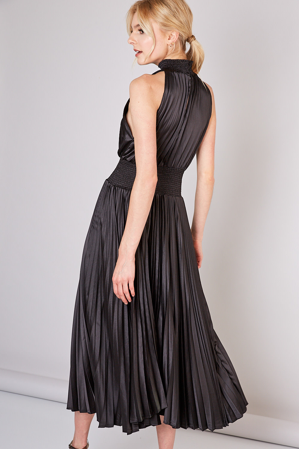 Audrey Pleated Maxi Dress