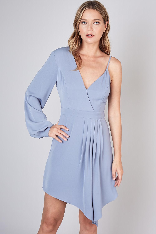 Atikshop One Sleeve Asymetric Dress