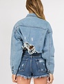 Signature8 Distressed Crop denim Jacket