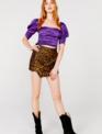 For Love & Lemons Benny Asymetrical Mini Skirt