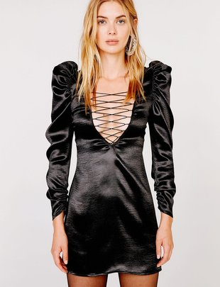 For Love & Lemons Prince Lace up Mini Dress