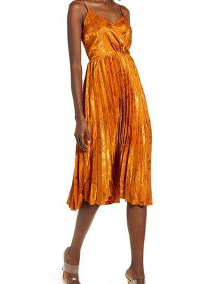 J.O.A Twist Front Midi Dress