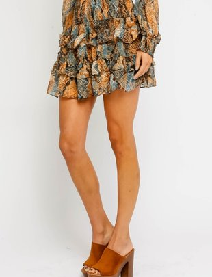Olivaceous Rillah Tierd Mini Skirt
