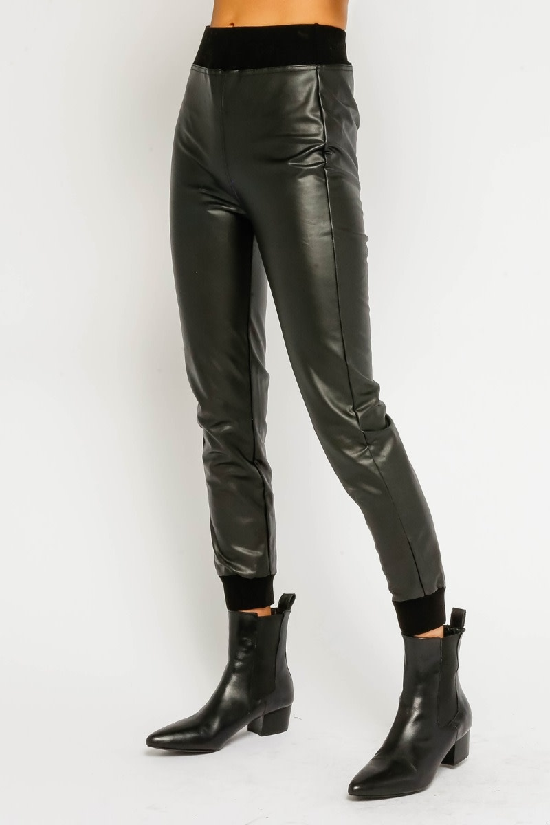 Olivaceous High Waist Fitted Jogger