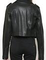 Hidden Coated Cropped Moto Jacket
