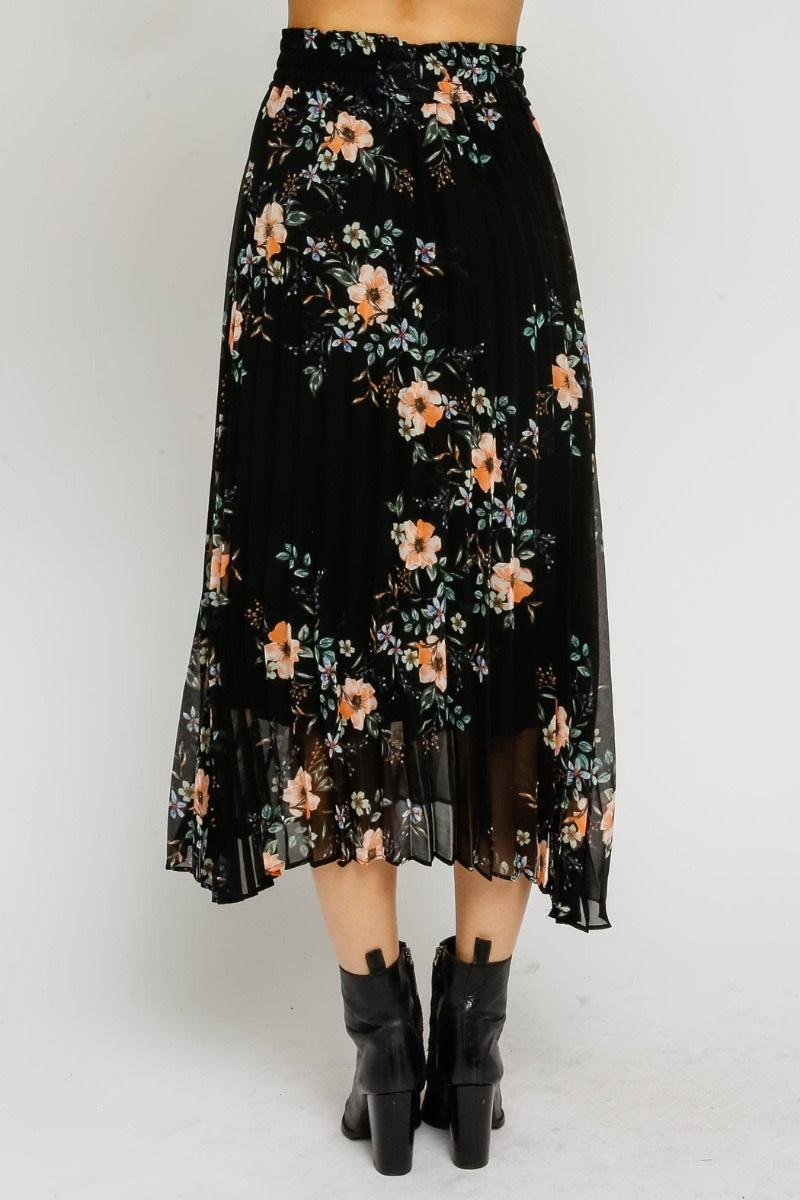 Atikshop Floral Pleated Mini Dress