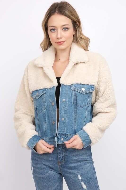 Atikshop Teddy Bear Denim Jacket