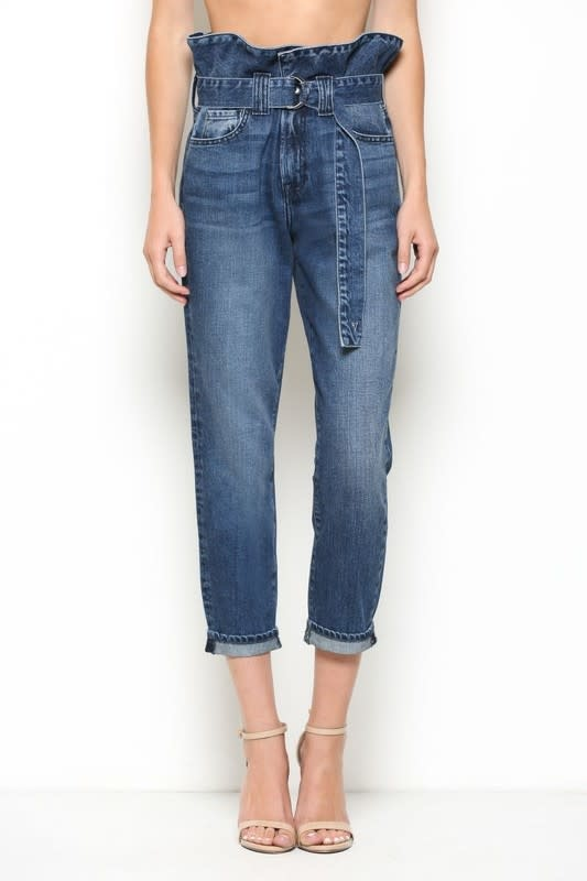Seek The Label High Rise Paperbag Mom Jean