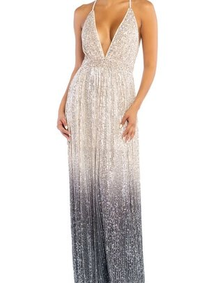 Seek The Label Sequin Ombre Maxi Dress