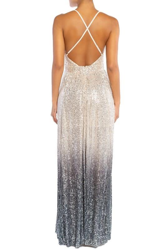 Seek The Label Sequin Ombre Maxi Dress