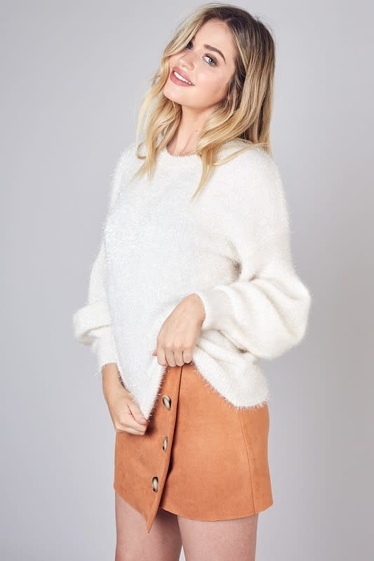Seek The Label Bubble Sleeves Sweater