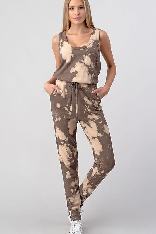Seek The Label Bleach Dye Jumpsuit