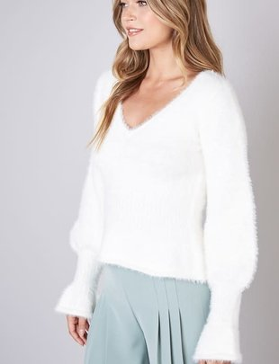 Seek The Label Flare Sleeves Pufy Sweater